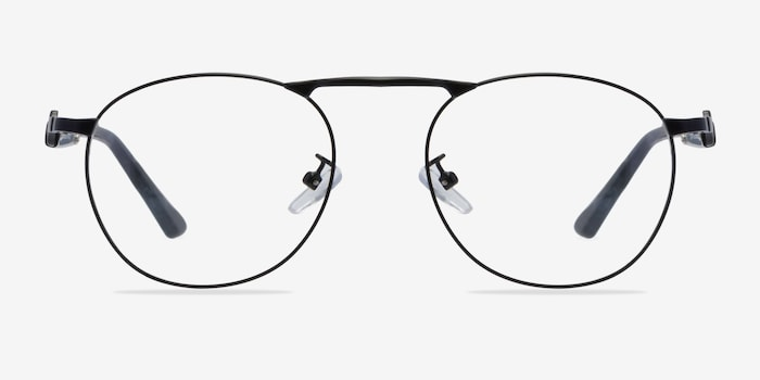 Matte Black Tarantino -  Classic Metal Eyeglasses