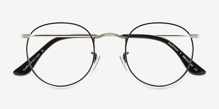Daydream Black Silver Métal Montures de Lunettes d'EyeBuyDirect, Vue Rapprochée