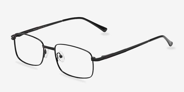 Jerauld Black Metal Eyeglass Frames from EyeBuyDirect, Angle View