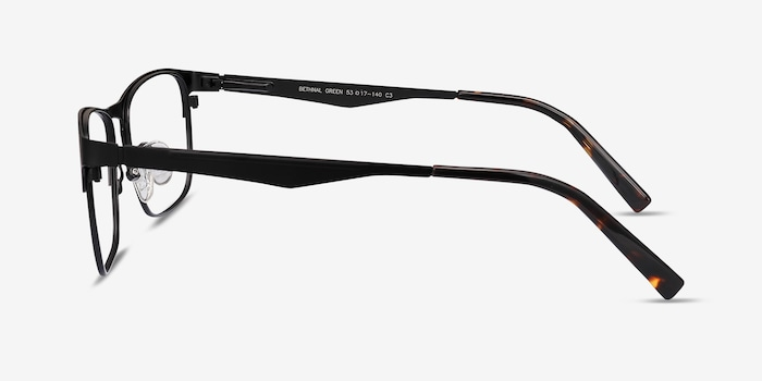 Bethnal Green Black Metal Eyeglass Frames from EyeBuyDirect, Side View