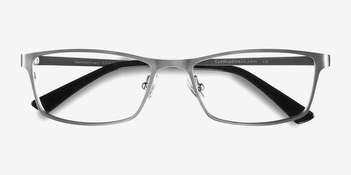 Germantown  Silver  Metal Eyeglass Frames from EyeBuyDirect, Closed View