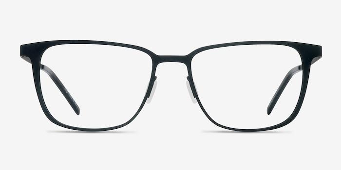Slight Matte Black Metal Eyeglass Frames from EyeBuyDirect, Front View