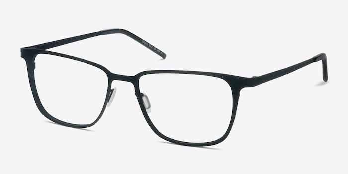 Slight Matte Black Metal Eyeglass Frames from EyeBuyDirect, Angle View