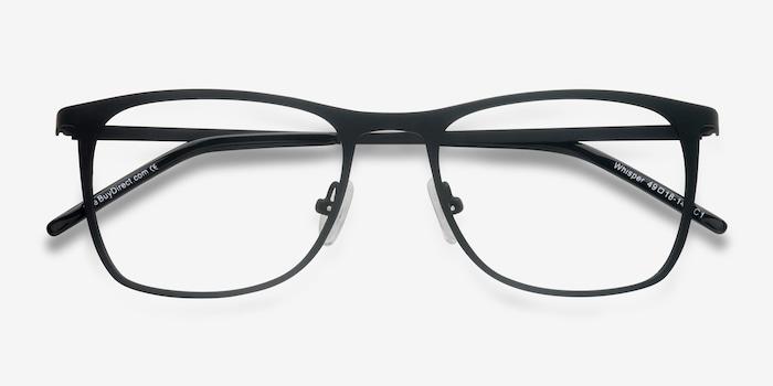 Whisper Matte Black Metal Eyeglass Frames from EyeBuyDirect, Closed View