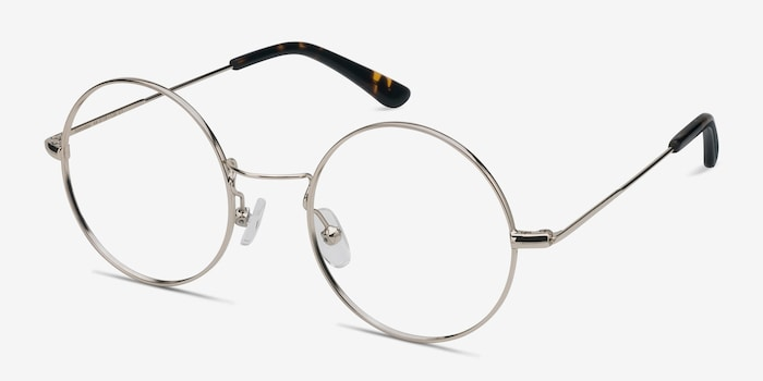 Someday Golden Metal Eyeglass Frames from EyeBuyDirect, Angle View