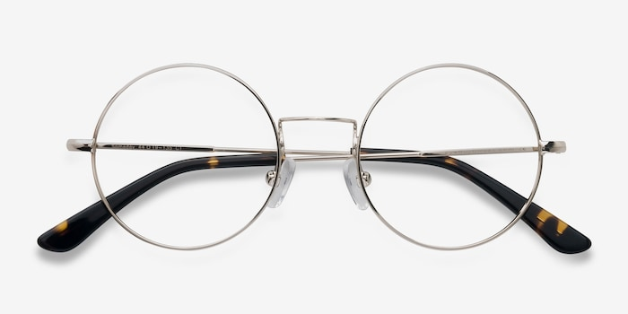 Someday Golden Metal Eyeglass Frames from EyeBuyDirect, Closed View