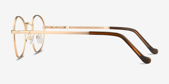 Mingus Black Golden Metal Eyeglass Frames from EyeBuyDirect, Side View