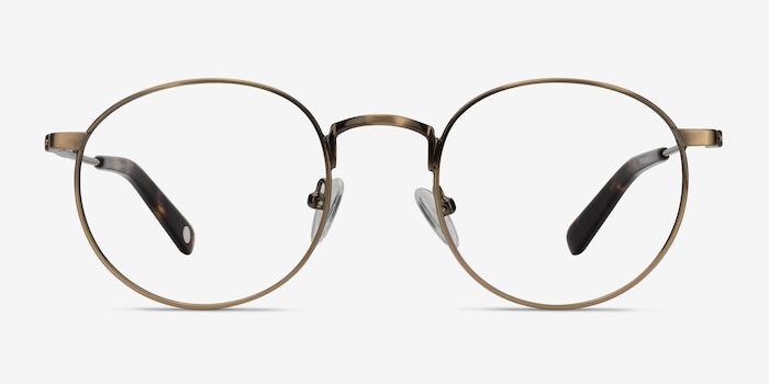 Circus Bronze Metal Eyeglass Frames from EyeBuyDirect, Front View