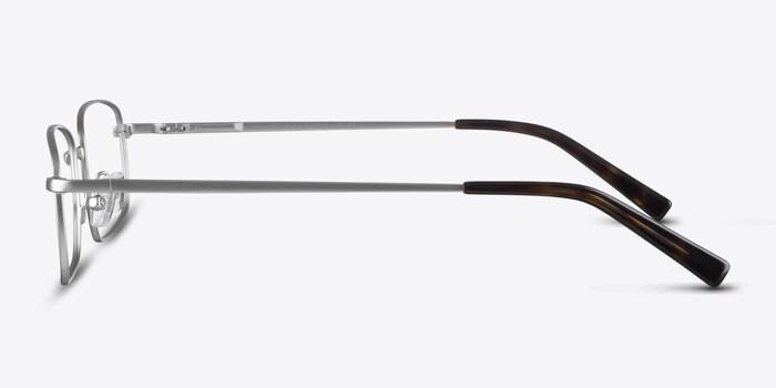 Bryce Silver Metal Eyeglass Frames from EyeBuyDirect, Side View