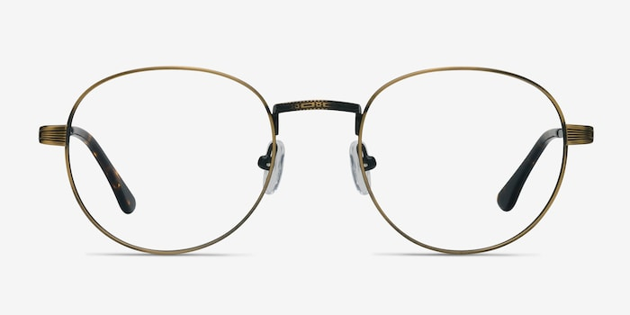 Belleville Bronze Metal Eyeglass Frames from EyeBuyDirect, Front View