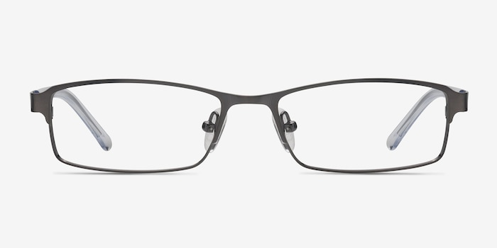 Olsen Gunmetal Metal Eyeglass Frames from EyeBuyDirect, Front View