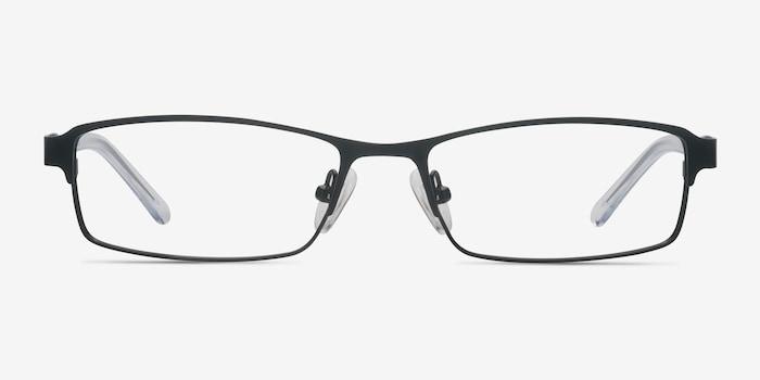 Olsen Black Metal Eyeglass Frames from EyeBuyDirect, Front View