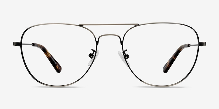 Dark Gunmetal Harrier -  Vintage Metal Eyeglasses