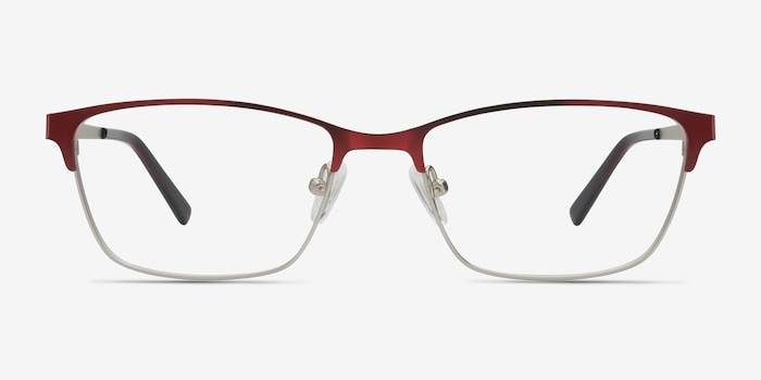 Red Cascade -  Colorful Metal Eyeglasses