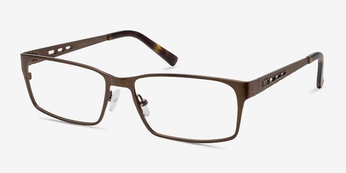 Celine Bronze Metal Eyeglass Frames from EyeBuyDirect, Angle View