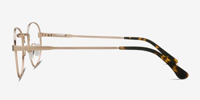 Belleville Golden Metal Eyeglass Frames from EyeBuyDirect, Side View