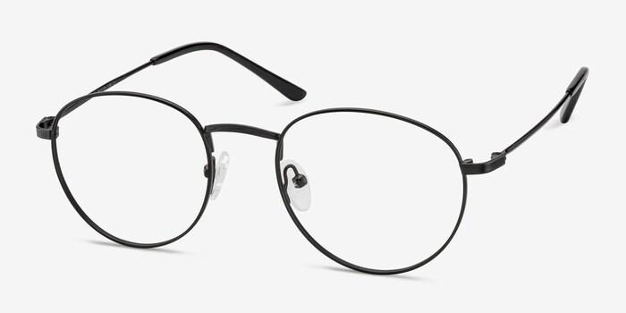 Epilogue Black Metal Eyeglass Frames from EyeBuyDirect, Angle View