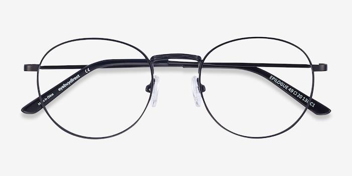 Epilogue Black Metal Eyeglass Frames from EyeBuyDirect, Closed View