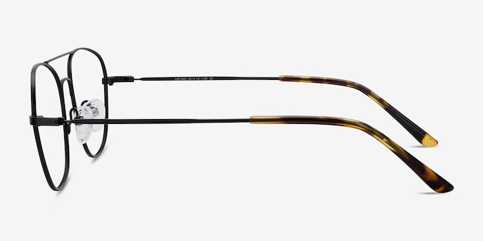 Captain Black Metal Eyeglass Frames from EyeBuyDirect, Side View