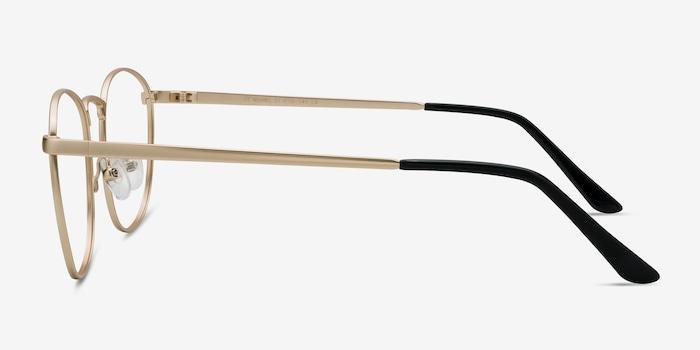 St Michel Golden Metal Eyeglass Frames from EyeBuyDirect, Side View