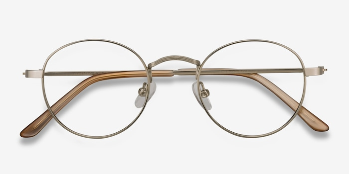 Cupertino | Silver Metal Eyeglasses | EyeBuyDirect