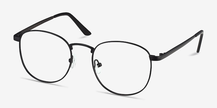 St Michel Black  Metal Eyeglass Frames from EyeBuyDirect, Angle View