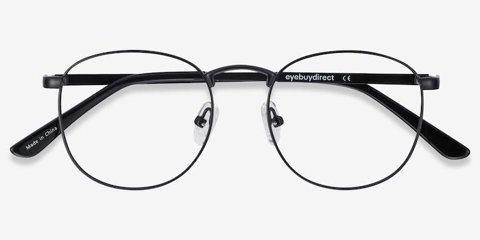 St Michel Black  Metal Eyeglass Frames from EyeBuyDirect, Closed View