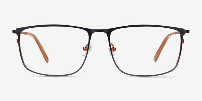 Navy Typha -  Metal Eyeglasses