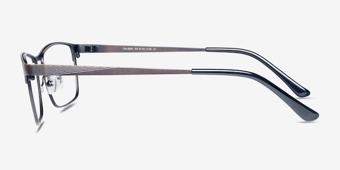 Caliber Brown Metal Eyeglass Frames from EyeBuyDirect, Side View