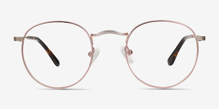 Daydream Victorian Pink Metal Eyeglass Frames from EyeBuyDirect, Front View