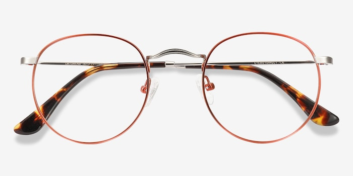 Daydream Cinnamon Red Metal Eyeglass Frames from EyeBuyDirect, Closed View