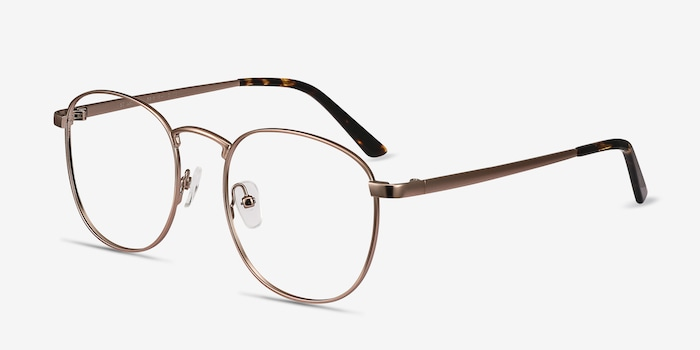 St Michel Rose Gold Metal Eyeglass Frames from EyeBuyDirect, Angle View