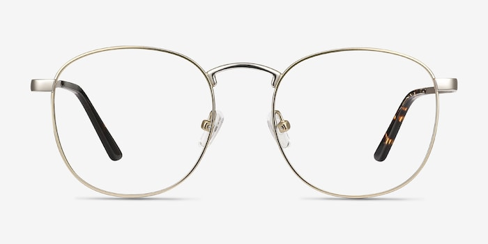 St Michel Starlight Yellow Metal Eyeglass Frames from EyeBuyDirect, Front View