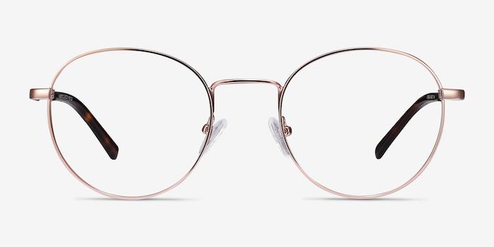 Memento Pink Golden Metal Eyeglass Frames from EyeBuyDirect, Front View