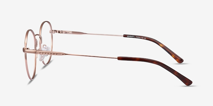 Memento Pink Golden Metal Eyeglass Frames from EyeBuyDirect, Side View
