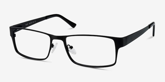 Elliot  Black  Metal Eyeglass Frames from EyeBuyDirect, Angle View