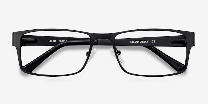 Elliot  Black  Métal Montures de Lunettes d'EyeBuyDirect, Vue Rapprochée