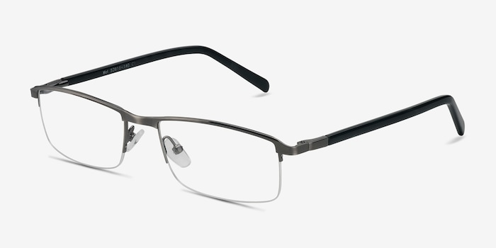 Mel  Silver  Metal Eyeglass Frames from EyeBuyDirect, Angle View