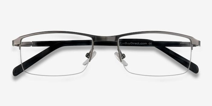 Mel  Silver  Metal Eyeglass Frames from EyeBuyDirect, Closed View
