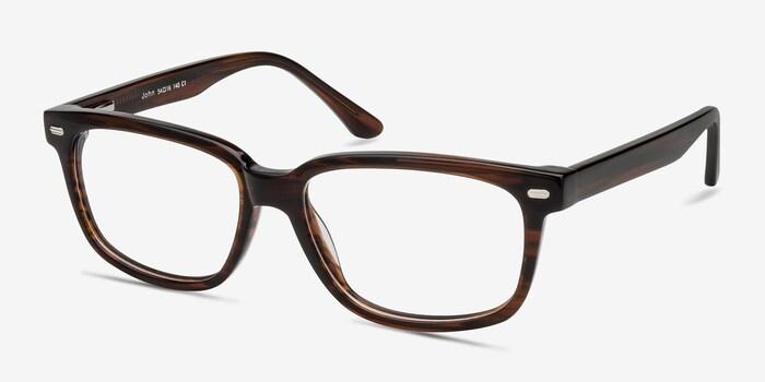 John Brown Acetate Eyeglass Frames from EyeBuyDirect, Angle View