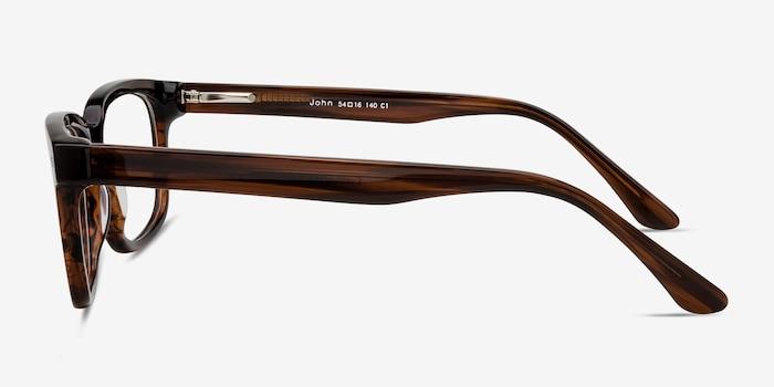 John Brown Acetate Eyeglass Frames from EyeBuyDirect, Side View