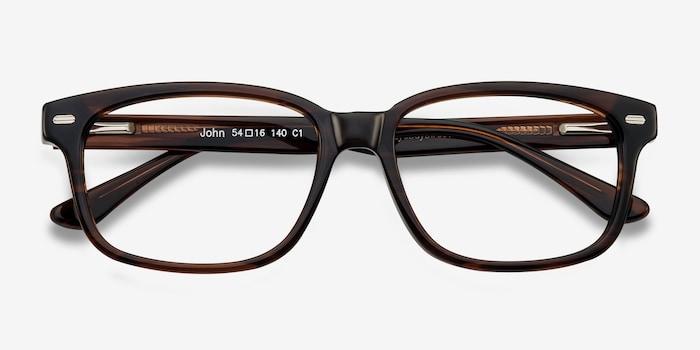 John Brown Acetate Eyeglass Frames from EyeBuyDirect, Closed View