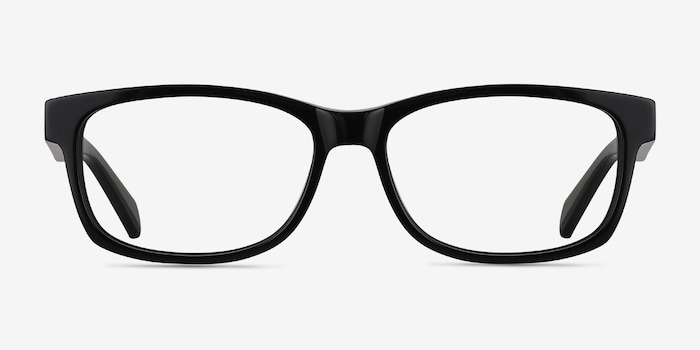 Kyle Black Acetate Eyeglass Frames from EyeBuyDirect, Front View