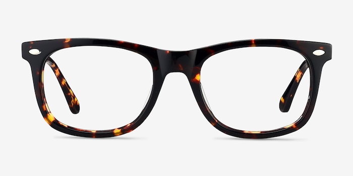 Sam Tortoise Acetate Eyeglass Frames from EyeBuyDirect, Front View