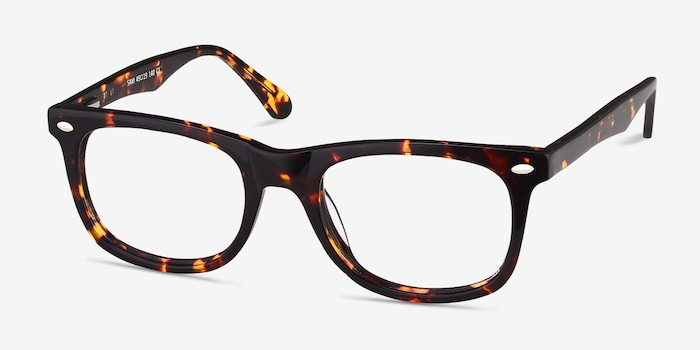 Sam Tortoise Acetate Eyeglass Frames from EyeBuyDirect, Angle View