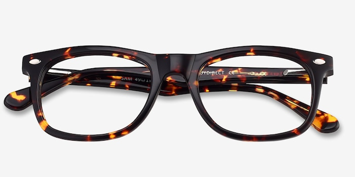 Sam Tortoise Acetate Eyeglass Frames from EyeBuyDirect, Closed View