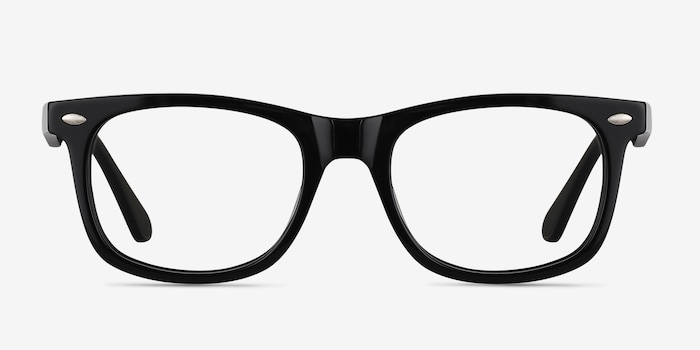 Sam Black Acetate Eyeglass Frames from EyeBuyDirect, Front View