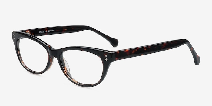 Monica Brown/Tortoise Acetate Eyeglass Frames from EyeBuyDirect, Angle View