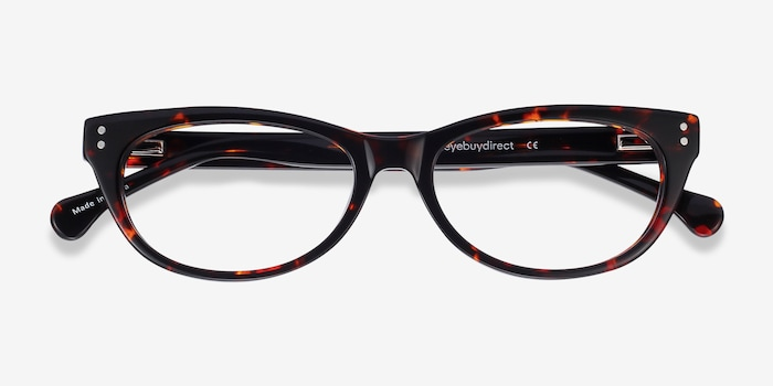 Monica Brown/Tortoise Acetate Eyeglass Frames from EyeBuyDirect, Closed View