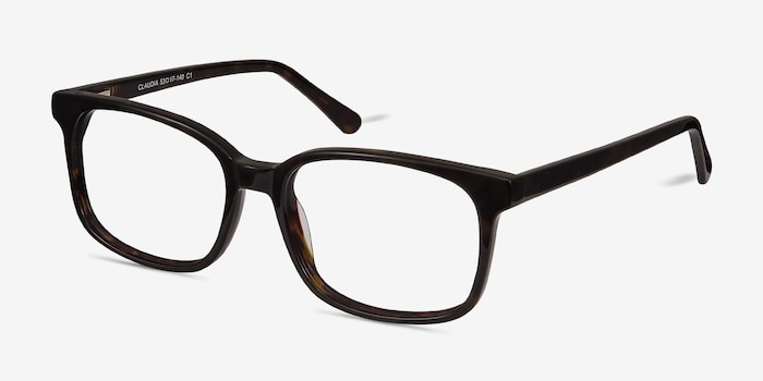 Claudia Brown/Tortoise Acetate Eyeglass Frames from EyeBuyDirect, Angle View